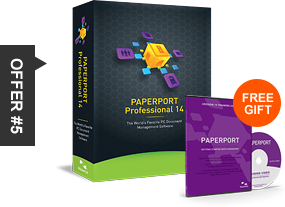 offer #5 Paperport Professional 14 free gift
